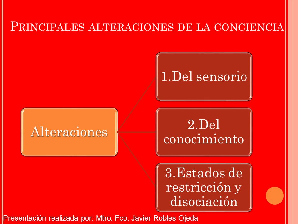 Principales alteraciones de la conciencia