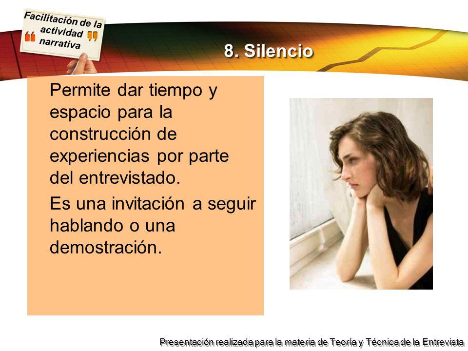 8. Silencio