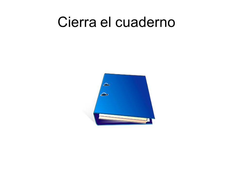 Cierra el cuaderno
