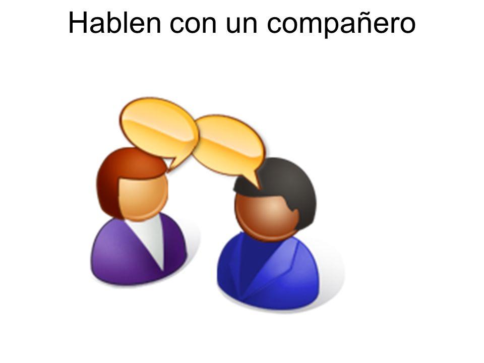 Hablen con un compañero