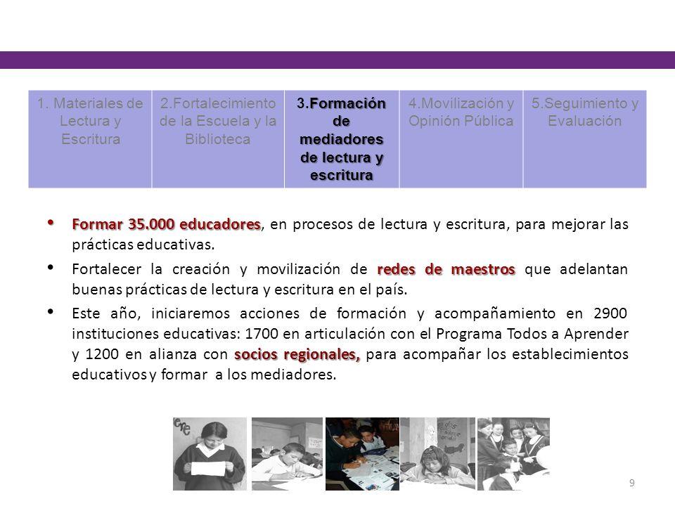 3.Formación de mediadores de lectura y escritura