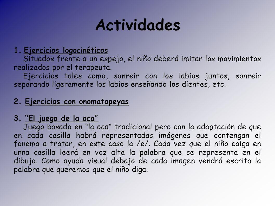 Actividades 1. Ejercicios logocinéticos