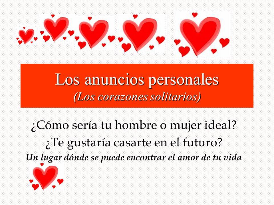 Los anuncios personales (Los corazones solitarios)