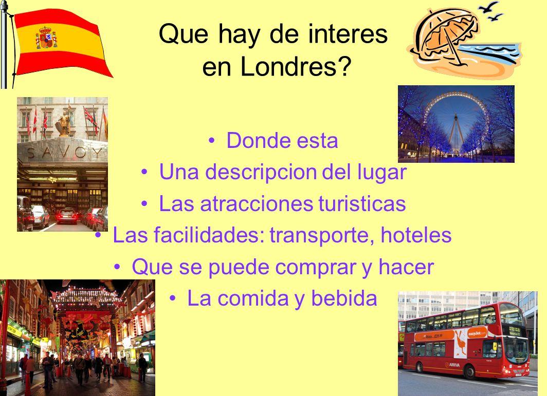 Que hay de interes en Londres