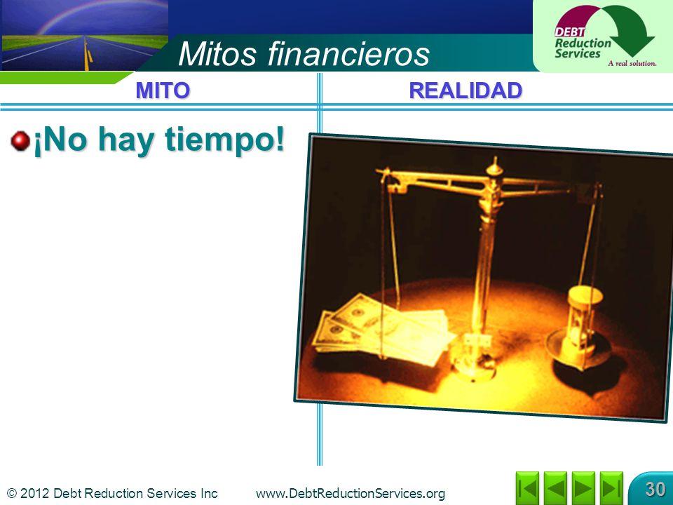 Mitos financieros ¡No hay tiempo! MITO REALIDAD