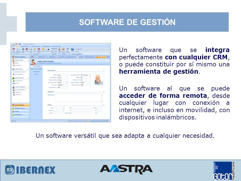 SOFTWARE DE GESTIÓNUn software que se integra perfectamente con cualquier CRM, o puede constituir por sí mismo una herramienta de gestión.