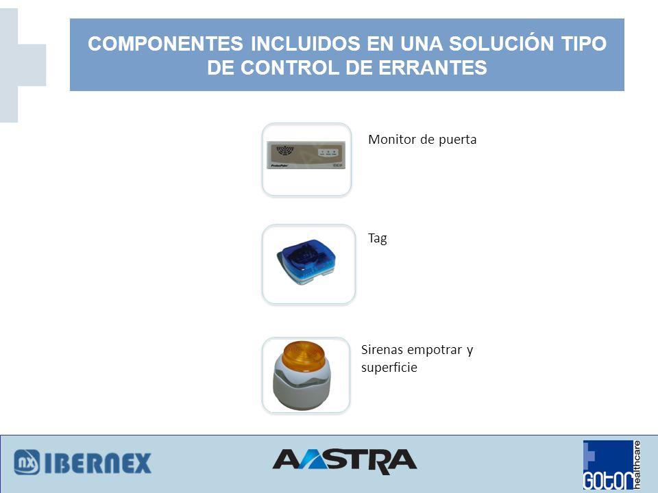 COMPONENTES INCLUIDOS EN UNA SOLUCIÓN TIPO DE CONTROL DE ERRANTES