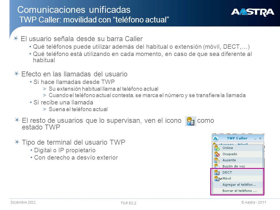 Comunicaciones unificadas TWP Caller: movilidad con teléfono actual