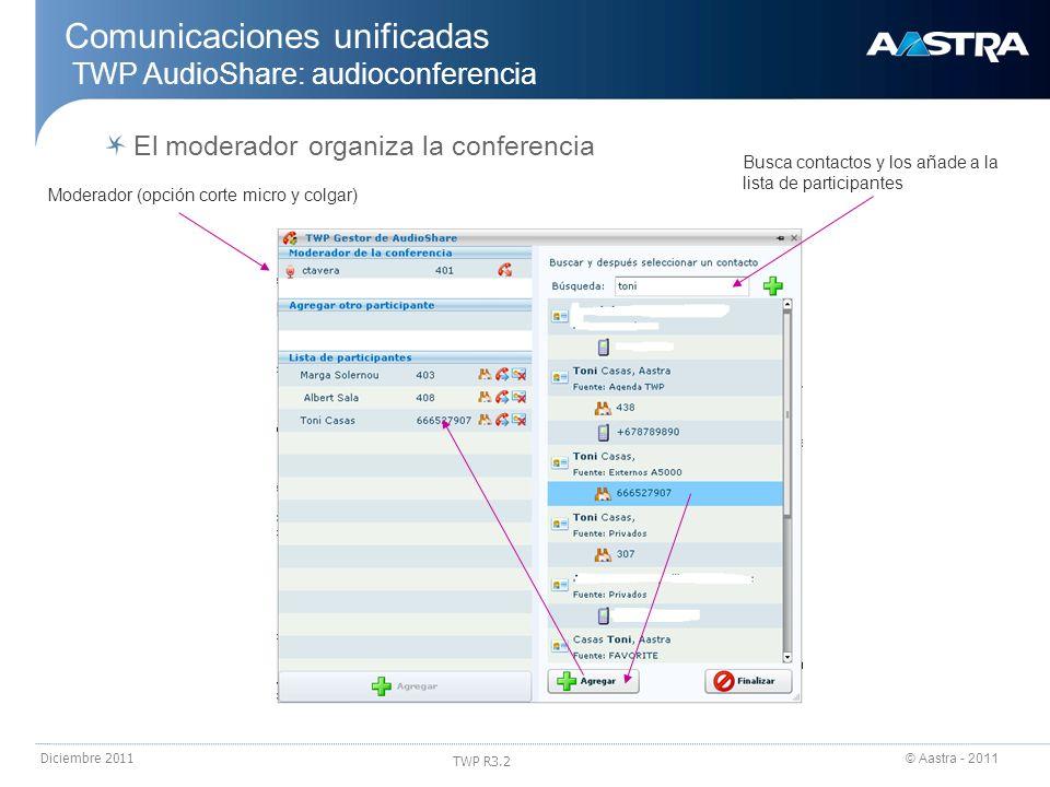 Comunicaciones unificadas TWP AudioShare: audioconferencia