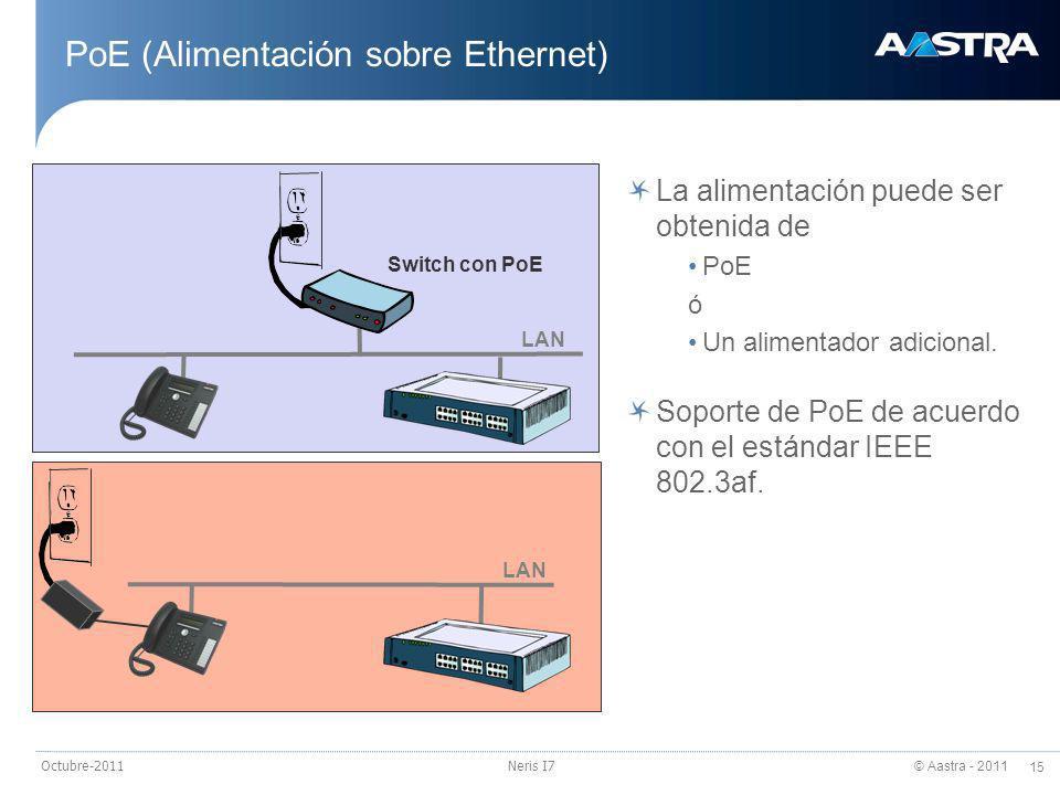 PoE (Alimentación sobre Ethernet)