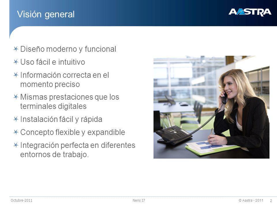 Visión general Diseño moderno y funcional Uso fácil e intuitivo