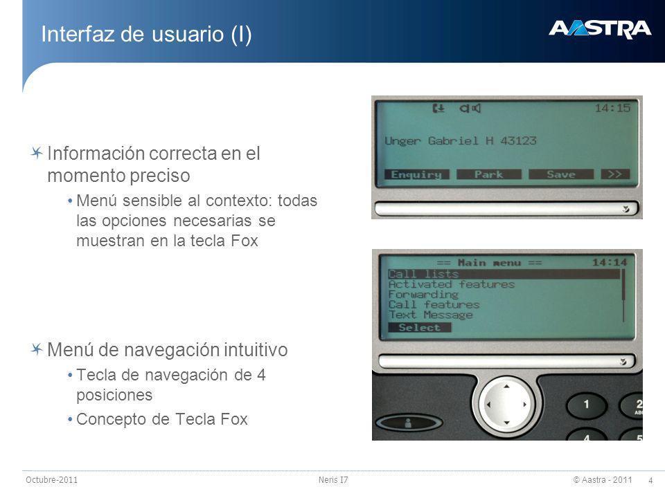 Interfaz de usuario (I)