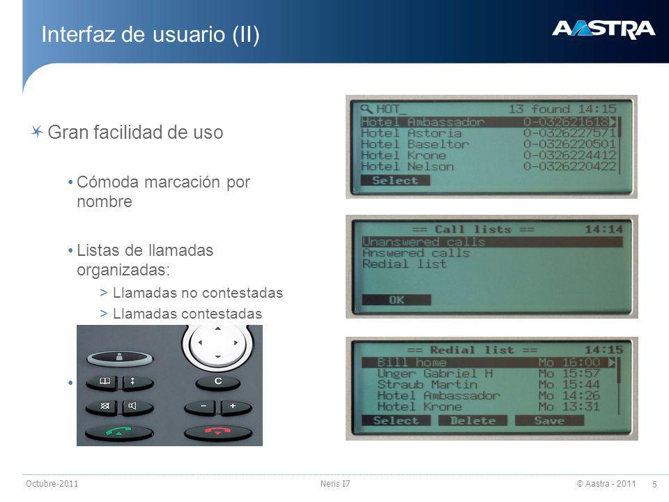 Interfaz de usuario (II)