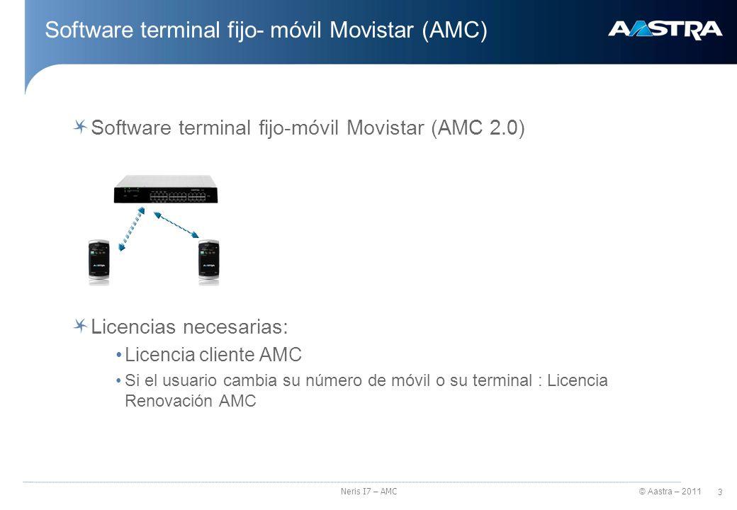 Software terminal fijo- móvil Movistar (AMC)