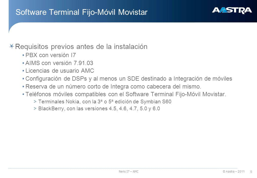 Software Terminal Fijo-Móvil Movistar