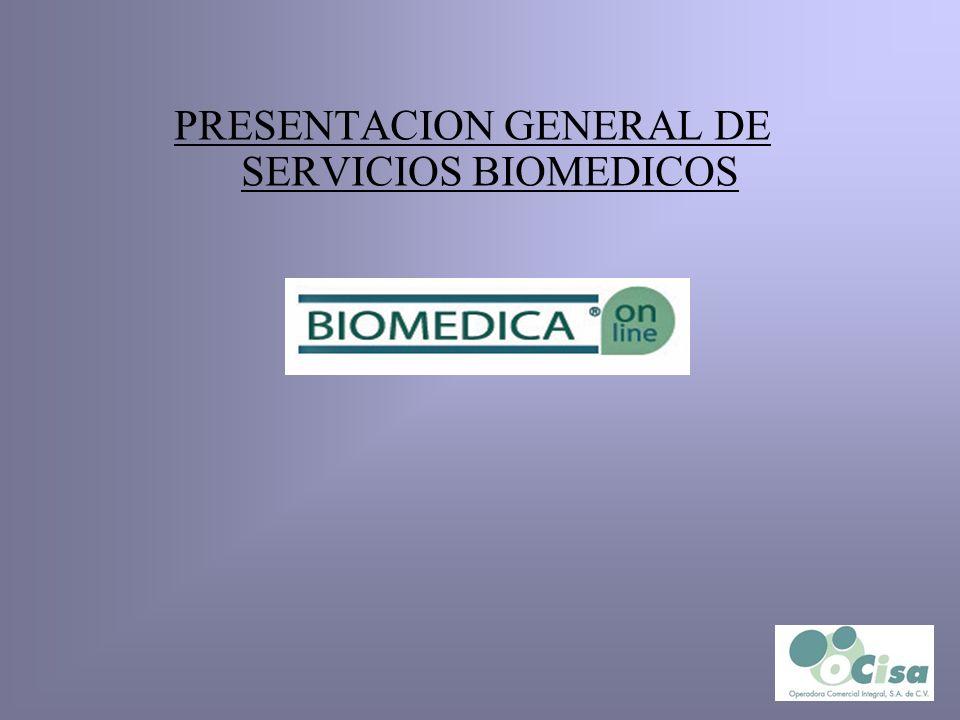 PRESENTACION GENERAL DE SERVICIOS BIOMEDICOS