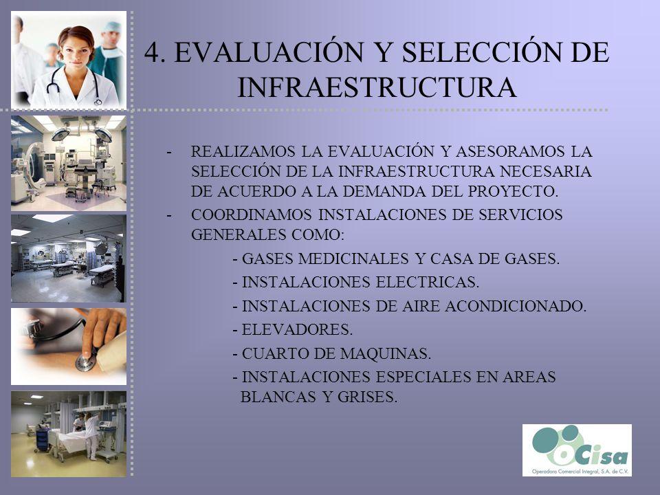 4. EVALUACIÓN Y SELECCIÓN DE INFRAESTRUCTURA