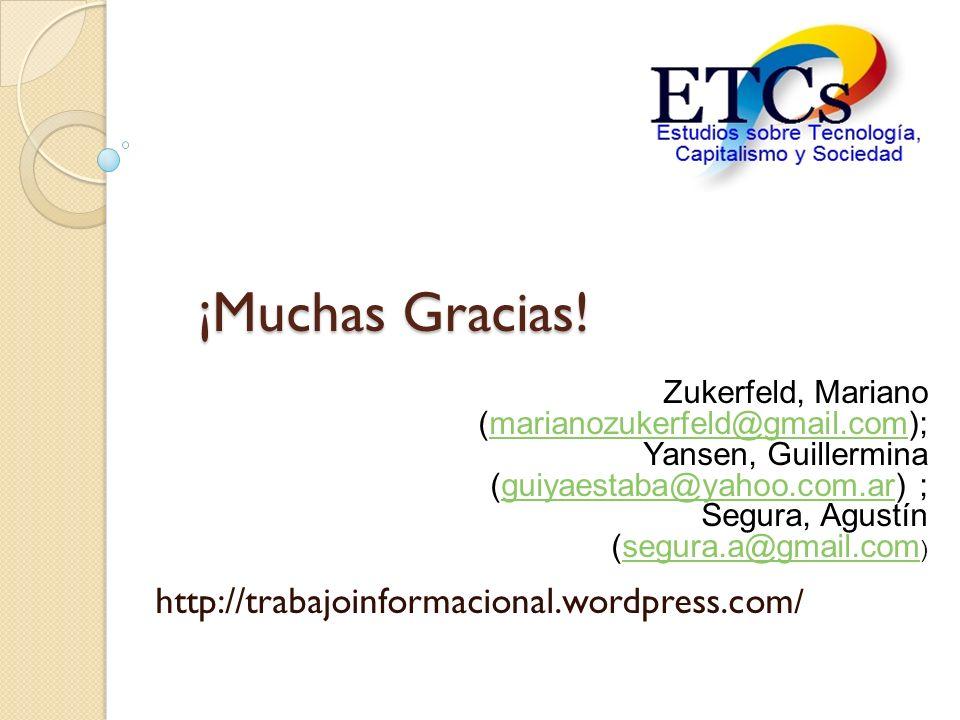 ¡Muchas Gracias! http://trabajoinformacional.wordpress.com/
