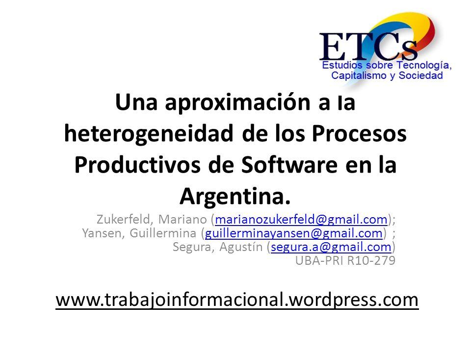 Una aproximación a la heterogeneidad de los Procesos Productivos de Software en la Argentina.