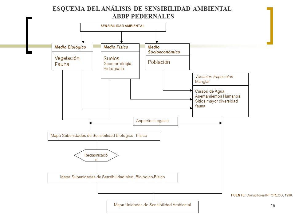 ESQUEMA DEL ANÁLISIS DE SENSIBILIDAD AMBIENTAL