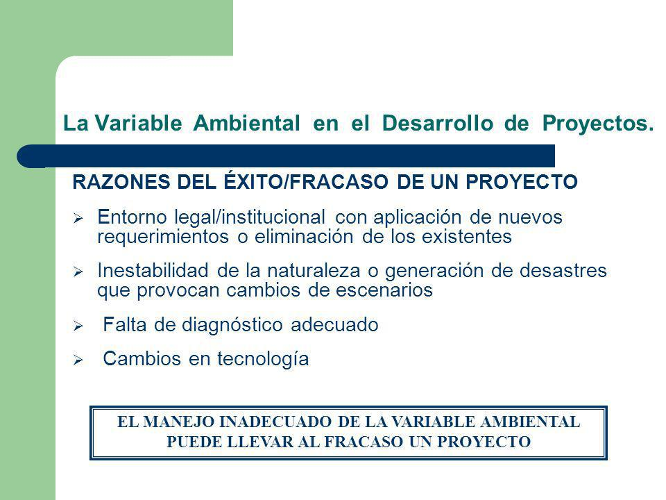 La Variable Ambiental en el Desarrollo de Proyectos.