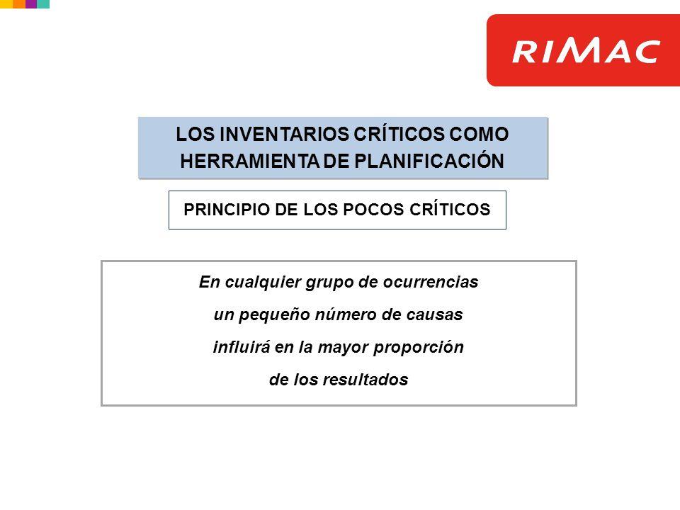 LOS INVENTARIOS CRÍTICOS COMO HERRAMIENTA DE PLANIFICACIÓN