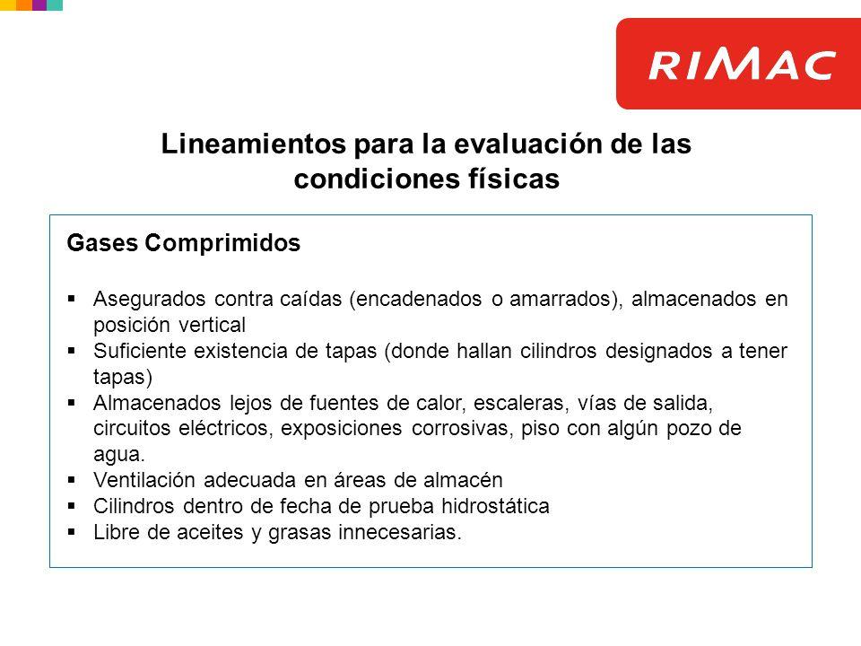 Lineamientos para la evaluación de las condiciones físicas