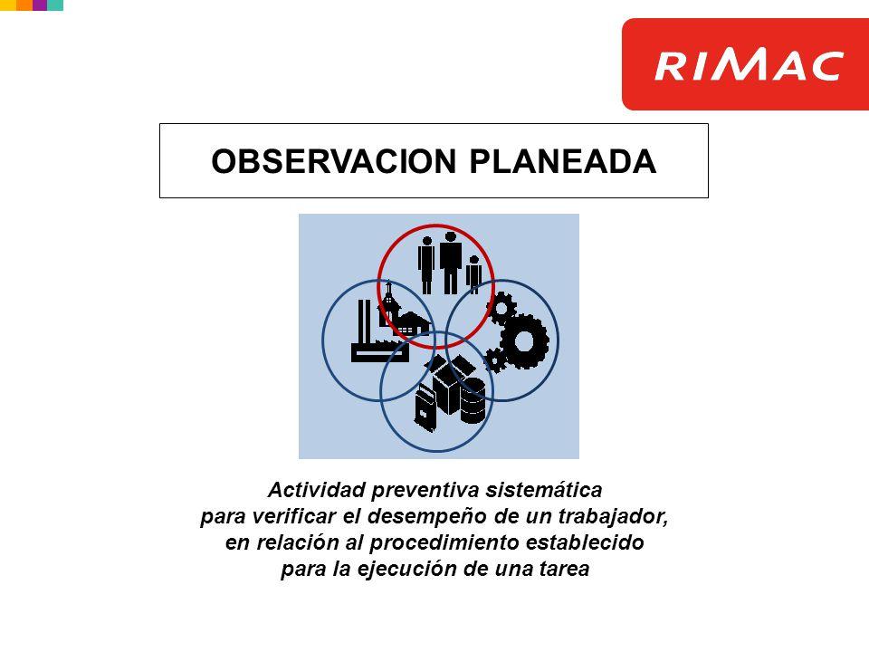 OBSERVACION PLANEADA Actividad preventiva sistemática
