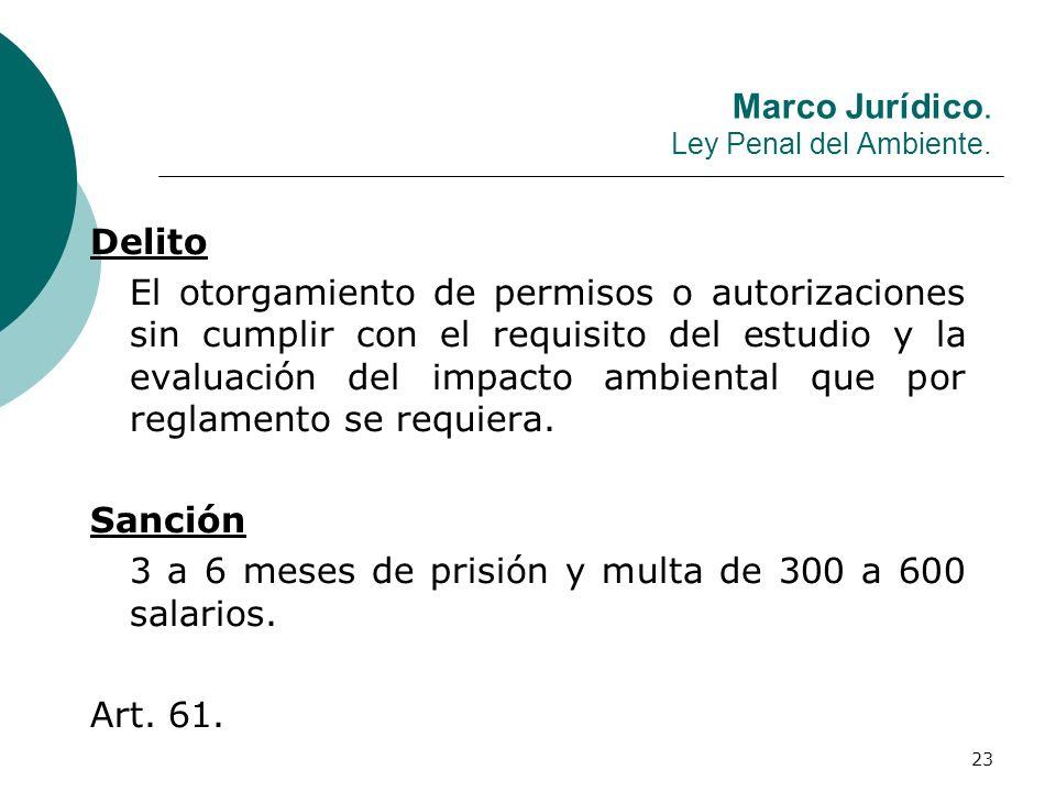 Marco Jurídico. Ley Penal del Ambiente.