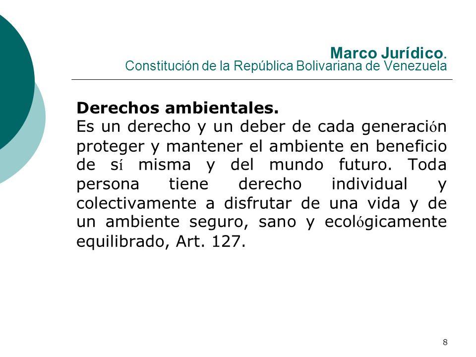 Marco Jurídico. Constitución de la República Bolivariana de Venezuela