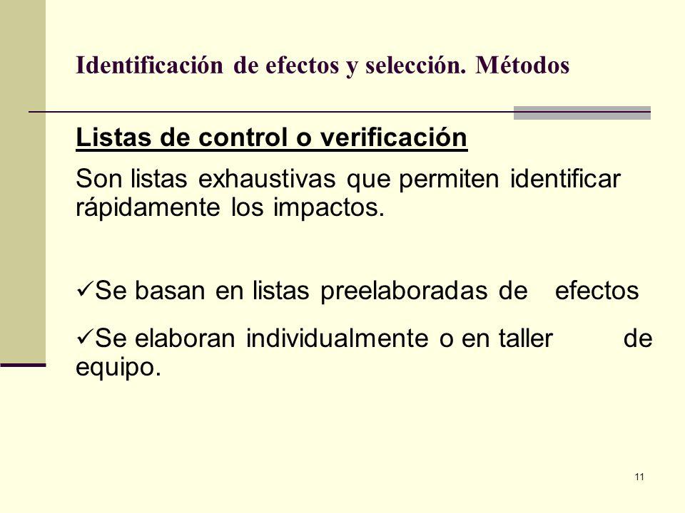 Identificación de efectos y selección. Métodos