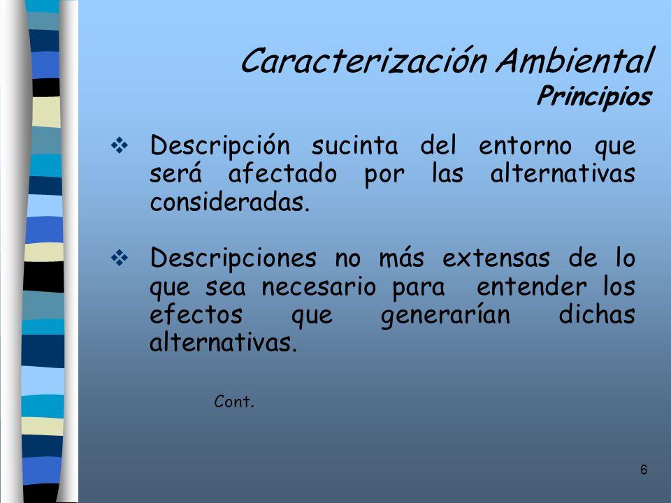 Caracterización Ambiental Principios