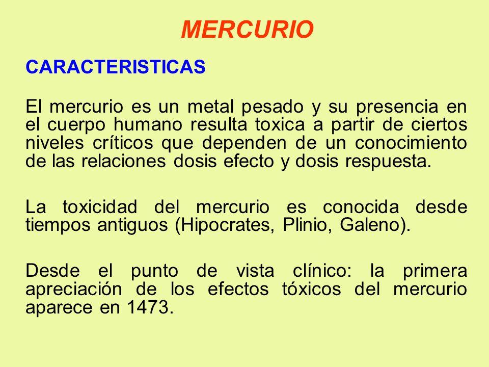 MERCURIO CARACTERISTICAS