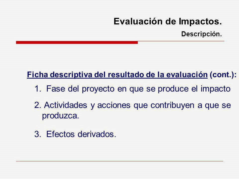 Evaluación de Impactos. Descripción.