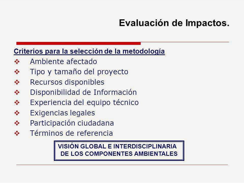 VISIÓN GLOBAL E INTERDISCIPLINARIA DE LOS COMPONENTES AMBIENTALES