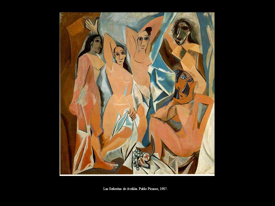 Las Señoritas de Aviñón. Pablo Picasso, 1907.