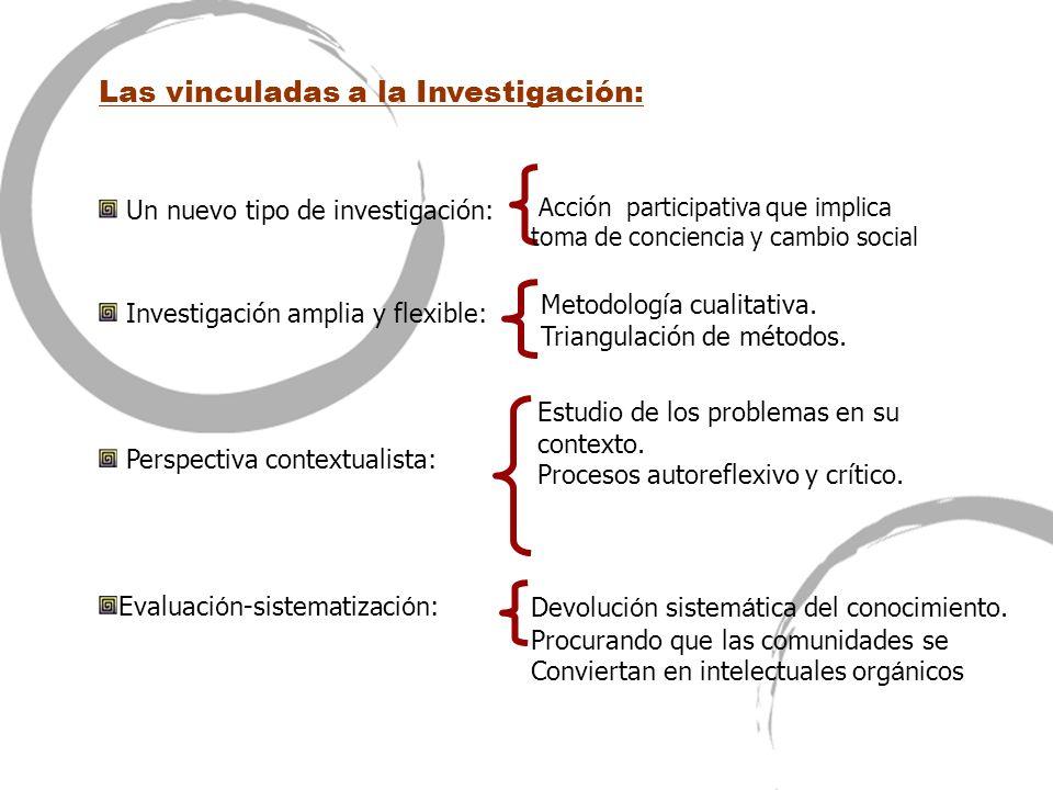 Las vinculadas a la Investigación: