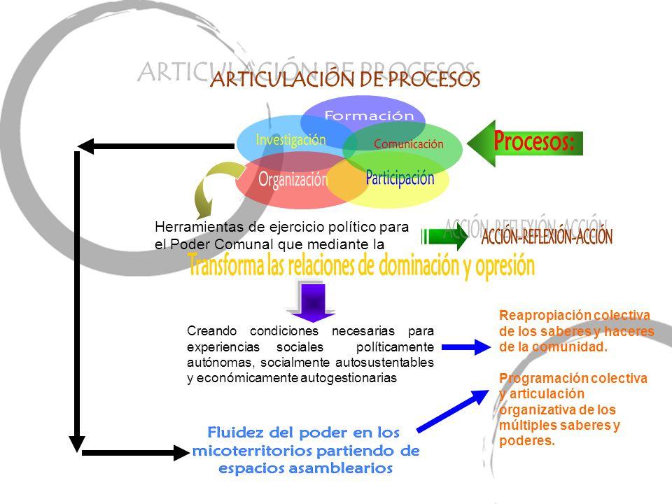 ARTICULACIÓN DE PROCESOS