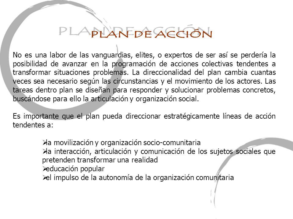 la movilización y organización socio-comunitaria