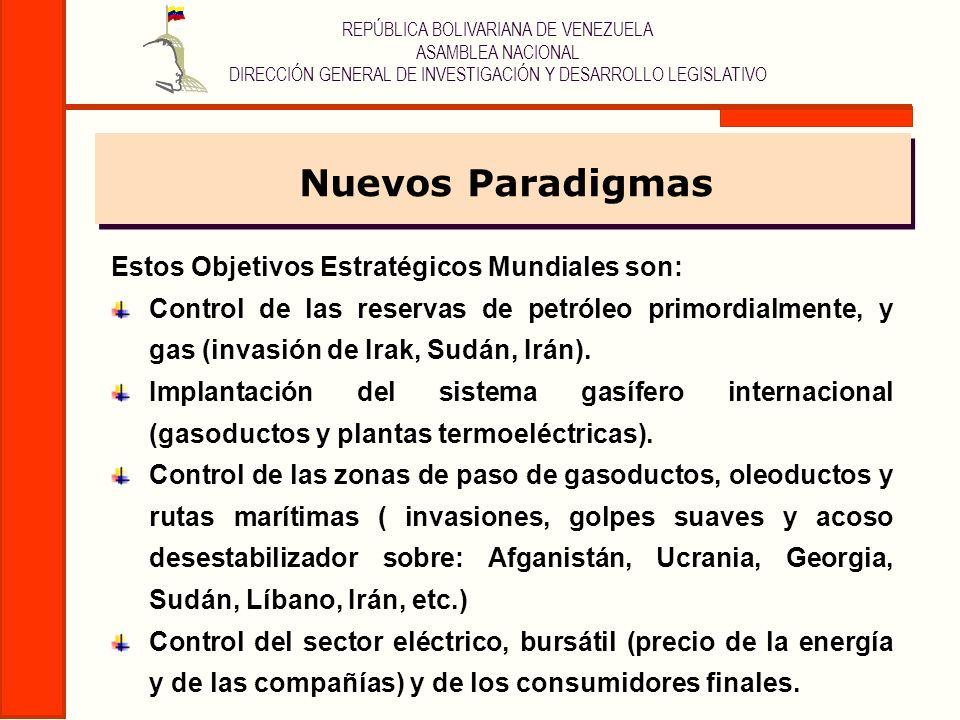 Nuevos Paradigmas Estos Objetivos Estratégicos Mundiales son: