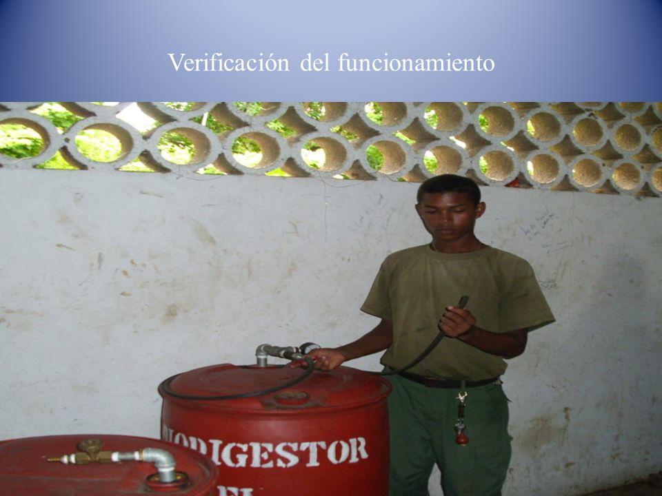 Verificación del funcionamiento
