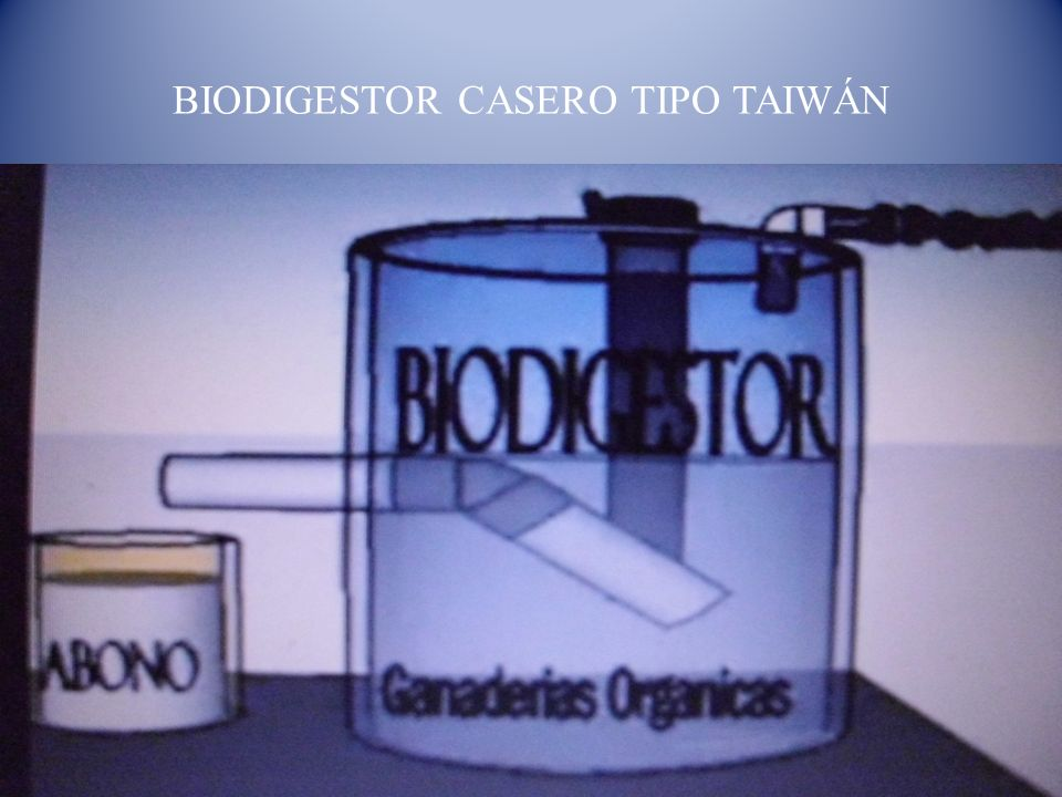 BIODIGESTOR CASERO TIPO TAIWÁN