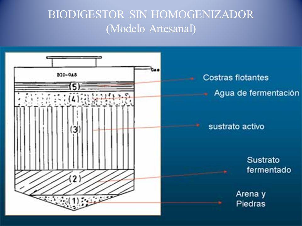 BIODIGESTOR SIN HOMOGENIZADOR (Modelo Artesanal)