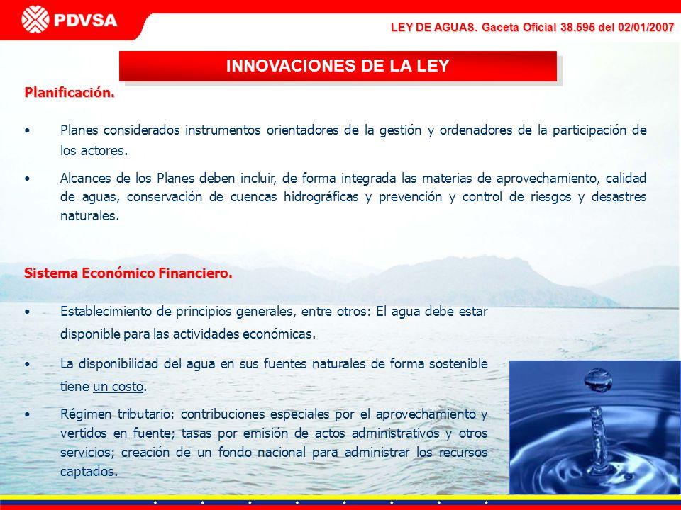 INNOVACIONES DE LA LEY Planificación.