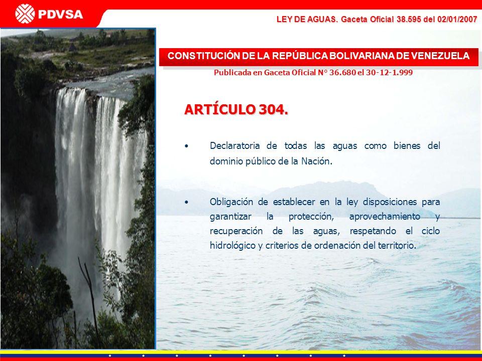 ARTÍCULO 304. CONSTITUCIÓN DE LA REPÚBLICA BOLIVARIANA DE VENEZUELA