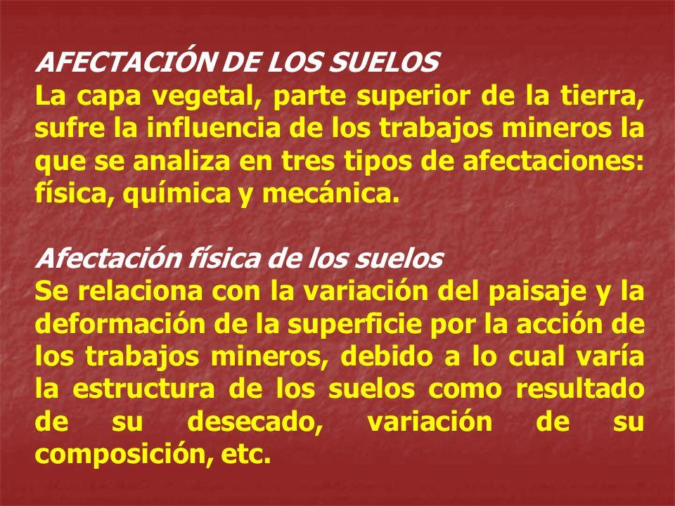 AFECTACIÓN DE LOS SUELOS