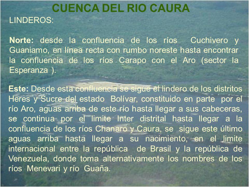 CUENCA DEL RIO CAURA LINDEROS: