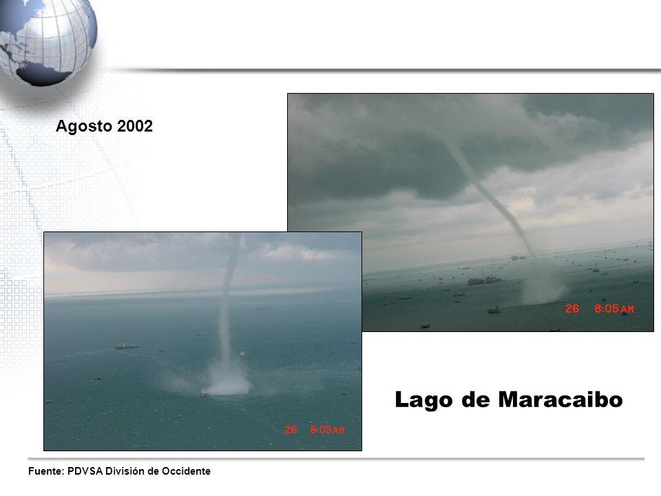 Agosto 2002 Lago de Maracaibo Fuente: PDVSA División de Occidente