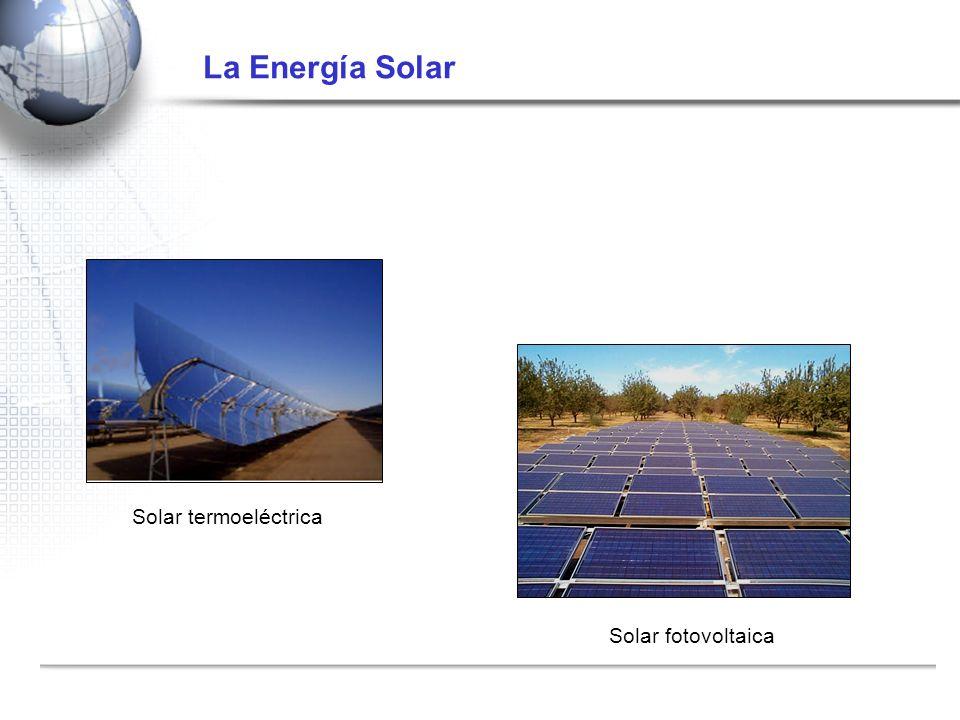 La Energía Solar Solar termoeléctrica Solar fotovoltaica