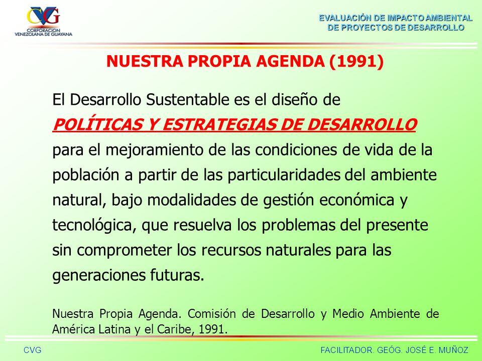 NUESTRA PROPIA AGENDA (1991)